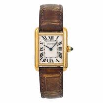 Cartier Tank Louis Cartier Gult guld 22mm Hvid Romertal