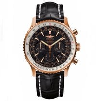 Breitling Rose gold Automatic Black No numerals 46mm new Navitimer 01 (46 MM)
