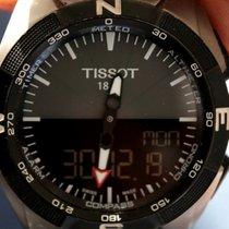Tissot T-Touch Expert Solar gebraucht 45mm Schwarz Chronograph Datum Ewiger Kalender Wecker Titan