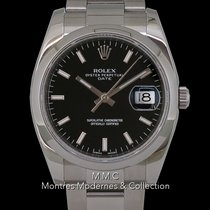 Rolex Steel Automatic No numerals 34mm pre-owned Oyster Perpetual Date