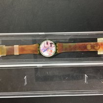 Swatch usato Quarzo Nero Vetro zaffiro