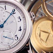 L.Leroy 8K WG Osmior Monopusher Chronograph. White Guilloche...