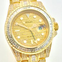 Rolex GMT Master II 2 Ice Baguette Diamonds Fully Iced out