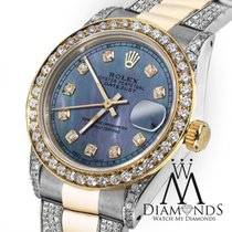 Rolex Lady-Datejust Or/Acier 26mm Bleu
