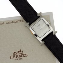 Hermès Authentic HERMES H Watch Watches RS1.205 Stainless...