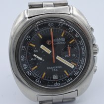 Roamer Chronograph 41mm Manual winding 1970 pre-owned Black