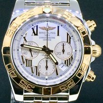 Breitling Chronomat 44MM, Gold/Steel White Dial Full Set 2011...