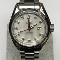 Omega Dameshorloge Seamaster Aqua Terra 30mmmm Quartz tweedehands Horloge met originele doos