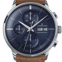 Junghans Meister Chronoscope Steel 40.7mm Blue No numerals United States of America, Texas, FRISCO
