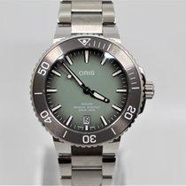 Oris Aquis Date Steel 39.5mm Green