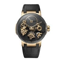 Ulysse Nardin Executive Skeleton Tourbillon Pозовое золото 44mm Чёрный