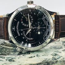 Jaeger-LeCoultre Master Geographic pre-owned 38mm Black Chronograph Date GMT Leather