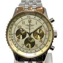 Breitling Navitimer Gold/Steel 38mm Champagne Arabic numerals United States of America, California, Cerritos