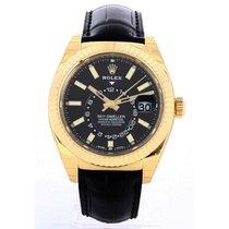 Rolex Sky-Dweller Κίτρινο χρυσό 42mm Μαύρο