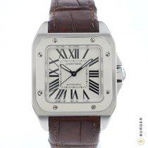 Cartier Santos 100 Steel 33mm Silver Roman numerals