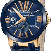 Ulysse Nardin Executive Dual Time Rose gold 43mm Blue United States of America, New York, Airmont