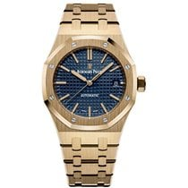 Audemars Piguet Royal Oak Selfwinding Yellow gold 37mm Blue