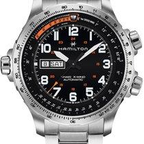 Hamilton H77755133 Acier 2020 Khaki X-Wind 45mm nouveau