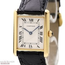 Cartier Tank Louis Cartier 18k Yellow Gold Quartz Box Bj-1990