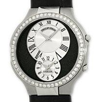 "Philip Stein Diamond ""Teslar"" Dual Time Strapwatch."