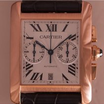Cartier Tank MC Rose gold 34mm Silver Roman numerals