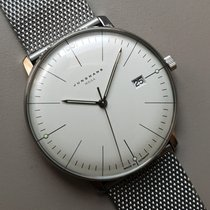 Junghans max bill MEGA Steel 38mm Silver No numerals