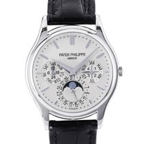 Patek Philippe Perpetual Calendar pre-owned 37.2mm White gold