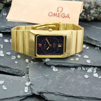 Omega Constellation Quartz Or jaune 32,5mm Bleu