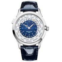 Patek Philippe World Time White gold 38mm Blue United States of America, New York, New York