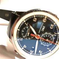 IWC Portuguese Yacht Club Chronograph Aço 43.5mm Preto Árabes