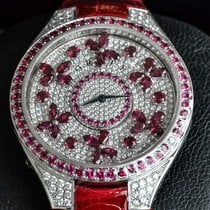 Graf Oro blanco 44mm Cuarzo DISCO BUTTERFLY Ruby on DIAMOND nuevo
