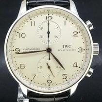 IWC Portuguese Chronograph folosit 41mm Alb Cronograf Otel