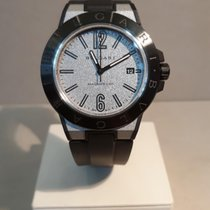 Bulgari Diagono Ceramika 41mm Srebrny Arabskie