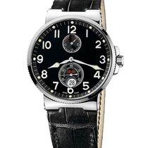 Ulysse Nardin Marine Chronometer 41mm подержанные 41mm Чёрный Дата Кожа аллигатора