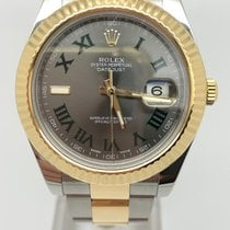 Rolex Datejust II Gold/Steel 41mm Silver Roman numerals