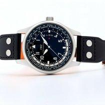 IWC Pilot Worldtimer Ocel 45mm Černá Bez čísel