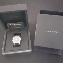 Hamilton Jazzmaster Thinline pre-owned 42mm Black Weekday Leather