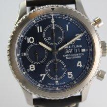 Breitling Navitimer 8 occasion 43mm Bleu Chronographe Date Affichage des jours Cuir