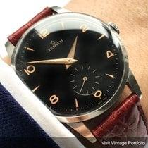 Zenith Vintage 37mm Oversize Jumbo black dial steel black dial