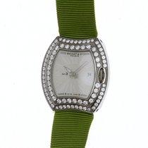 Bedat & Co No 3 334 Ladies Diamond Bezel Watch With Green Strap
