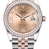 Rolex Gold/Stahl 36mm Automatik 126281RBR Rose VI IX Roman Jubilee neu