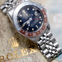 Rolex Vintage GMT-Master PEPSI Ref-1675 Gilt Dial Jubilee Box...