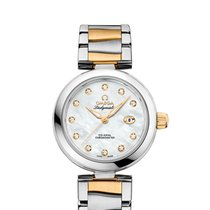 Omega De Ville Ladymatic Gold/Steel 34mm Mother of pearl