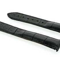 Omega 21mm black leather aligator bracelet