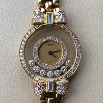Chopard 24mm Quartz 2006 pre-owned Happy Diamonds Gold