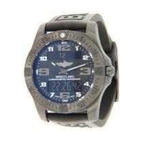 Breitling Aerospace EVO pre-owned 43mm Blue Chronograph Perpetual calendar Alarm GMT Rubber