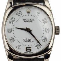 Rolex Cellini Danaos Złoto białe 24mm Biały Arabskie
