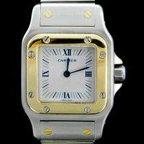 Cartier Santos Galbée Gold/Steel 26mm White Roman numerals