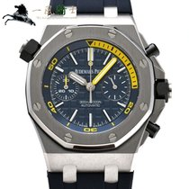 Audemars Piguet Steel Automatic Blue 42mm pre-owned Royal Oak Offshore Diver Chronograph