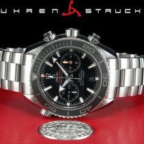 Omega Seamaster Planet Ocean Chronograph Steel 45,5mm Black No numerals